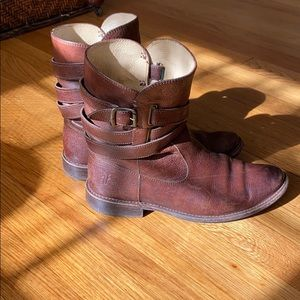 Brown All Leather Frye Boots Size 7